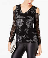INC International Concepts Metallic Cold-Shoulder Top, Created for Macy's