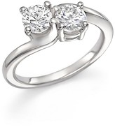 Bloomingdale's Diamond Two-Stone Ring in 14K White Gold, 1.0 ct. t.w.