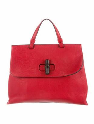 Gucci Medium Bamboo Daily Top Handle Bag silver