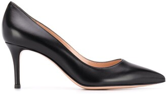 Gianvito Rossi Pointed Mid-Heel Pumps