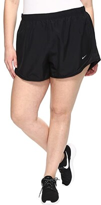 Nike Dry Tempo 3 Running Short (Size 1X-3X) (Black/Black/Black/Wolf Grey) Women's Shorts