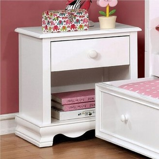 Harriet Bee Morethampstead Kid 1 Drawer Nightstand Color: White