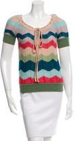 Missoni Short Sleeve Wool Sweater