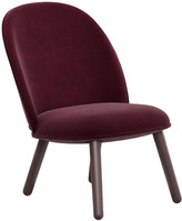 Normann Copenhagen Ace Lounge Chair Velour - Dark Red