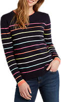 White Stuff River Sugar Stripe Jumper, Navy/Multi
