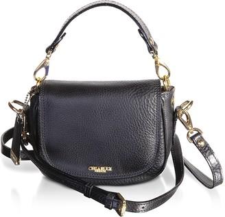 Chiarugi Genuine Leather Medium Crossbody Bag w/Top Handle