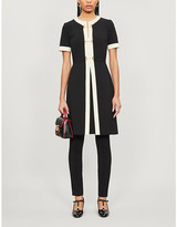 Gucci Horsebit-embellished stretch-jersey mini dress