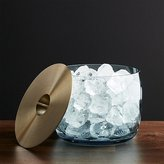 Crate & Barrel Orb Aqua Ice Bucket