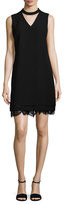 Karl Lagerfeld Choker V-Neck Shift Dress