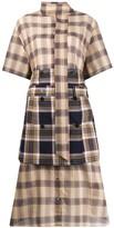 Rokh layered scarf-detail shirt dress