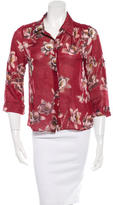 Alice + Olivia Silk Button-Up Blouse