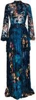 Alberta Ferretti long devoré velvet dress
