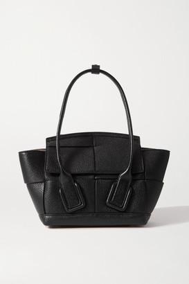Bottega Veneta Arco Mini Textured-leather Tote - Black