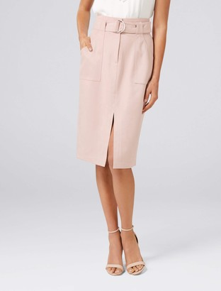 Ever New Mel Suedette Utility Pencil Skirt
