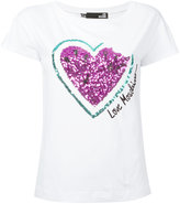 Love Moschino sequinned heart T-shirt