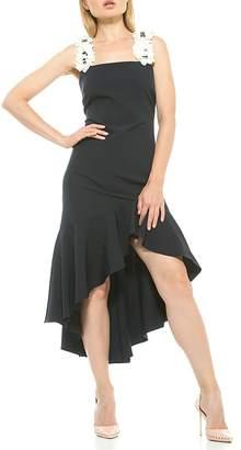 Alexia Admor Veronia Embellished Flower Strap High/Low Dress