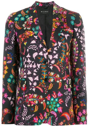 Etro Printed Single-Breasted Blazer