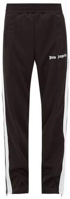 Palm Angels Side-stripe Technical-jersey Track Pants - Mens - Black White