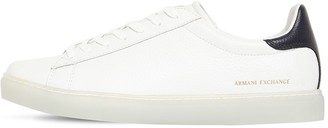 Armani Exchange Embossed Leather Lace-Up Sneakers