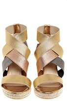 Castaner Constance Metallic Leather Wedge Sandal