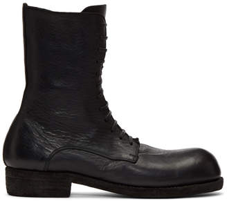 Guidi Black Big Daddy Lace-Up Boots