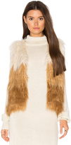 Mother Tri Faux Fur Vest