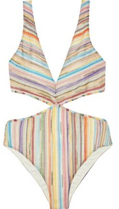 Missoni Mare Mare Cutout Metallic Crochet-knit Swimsuit