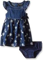 Calvin Klein Baby-Girls Dress with Discharge Printed Denim