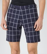 Reiss Reiss Nickleby - Check Tailored Shorts In Blue, Mens