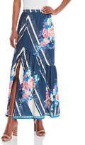 Flying Tomato Navy Floral Maxi Skirt