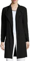 "Ming Wang 37""L Open-Front Jacket, Black"