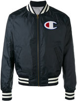 Champion striped detail bomber jacket