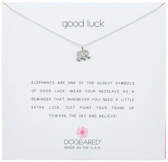 Dogeared Good Luck Sterling Silver Elephant Pendant Necklace