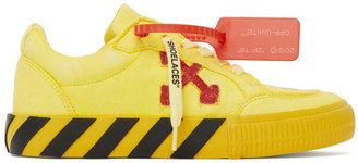 Off-White Off White Yellow and Red Low Vulcanized Sneakers