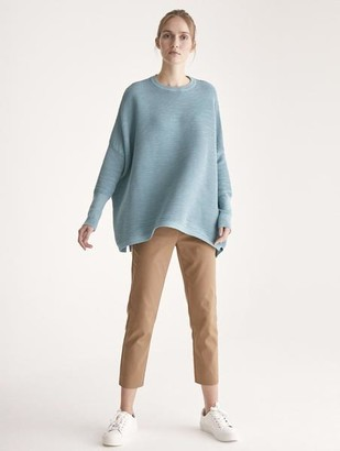 Paisie Ribbed Jumper With Side Splits Teal - S/M