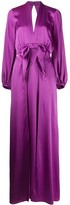 Temperley London Grace draped bow-embellished gown
