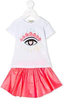 Kenzo Jihane eye embroidered dress