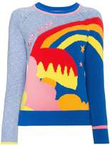 Mira Mikati Love More embroidered intarsia knitted jumper