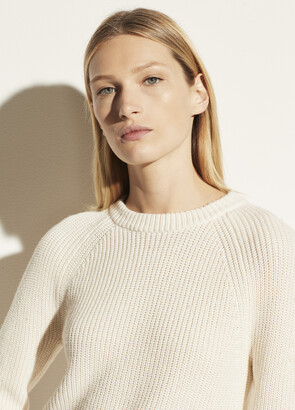 Vince Ribbed Cotton Cashmere Crew