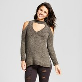 Xhilaration Women's Chenille Cold Shoulder Sweater Juniors')