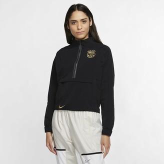 Nike Women's 1/4-Zip Soccer Jacket FC Barcelona