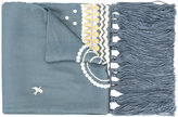 Temperley London Bird Dinner embroidered scarf
