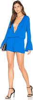 Amanda Uprichard Serefina Romper in Blue. - size S (also in )