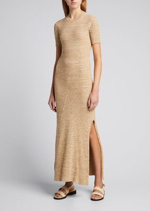 ANNA QUAN Sasha Cotton Rib-Knit Open-Back Dress
