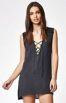Billabong For You Lace-Up Tunic Dress