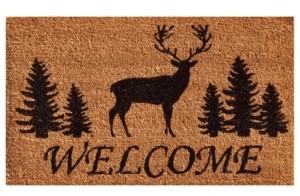 """Home & More Elk Forest Welcome 24"""" x 36"""" Coir/Vinyl Doormat Bedding"""