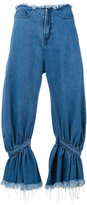 Marques Almeida Marques'almeida - high-rise ruffled jeans - women - Cotton - 6