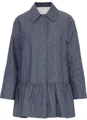RED Valentino Fluted Cotton-chambray Jacket