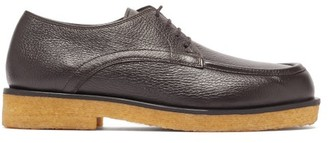 The Row Honore Grained-leather Derby Shoes - Brown