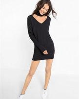 Express cut-out choker dolman sleeve dress